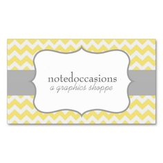 Yellow Chevron Modern Business Cards