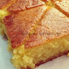 Greek Sweets, Greek Recipes, Cornbread, Banana Bread, Food To Make, Sandwiches, Deserts, Food And Drink, Cooking