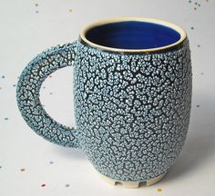 Ceramic Cup with textured glaze dining by texture