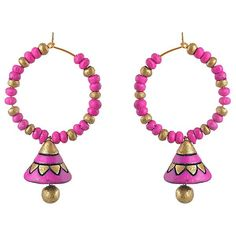 Shop now the latest jewellery on ladyindia.com Terracotta Earrings Hot Pink Bali Jhumkas Terracotta Jewellery Online Shopping https://ladyindia.com/collections/terracotta-jewellery/products/terracotta-earrings-hot-pink-bali-jhumkas-terracotta-jewellery-online-shopping #terracottajewellerydesigns #terracottadesigns