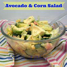 With A Blast: Avocado & Corn Salad     #saladrecipes