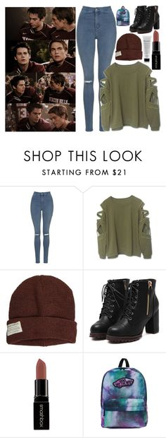 """""""Dunbar//liamdunbar"""" by ridiculousness444 ❤ liked on Polyvore featuring Topshop, Krochet Kids, Smashbox and Vans"""