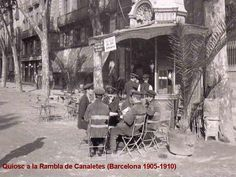Quiosc a la Rambla de Canaletes (Barcelona 1905-1910) Barcelona City, Barcelona Catalonia, Old Pictures, Old Photos, Old City, Best Cities, Spain Travel, Historical Photos, The Good Place