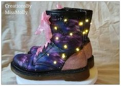 Check out this item in my Etsy shop https://www.etsy.com/uk/listing/553272773/galaxy-boots-galaxy-dr-martens-lace-up