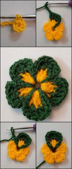 Beautiful Crochet Sunflower Free Crochet Pattern