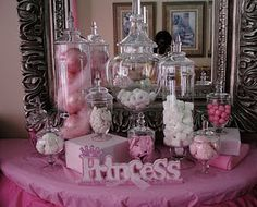 """I like the """"princess"""" decoration on the table. Also, using boxes to create layers"""