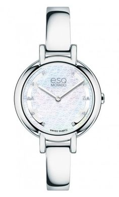 "ESQ ""Contempo"" Woman's Watch. Stainless Steel & Diamond Dial Quartz Movement at DarcysFineJewelers.com $395"