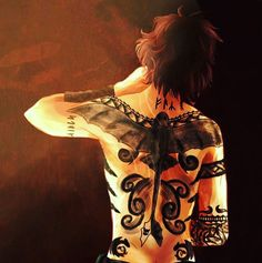 Hiccup with tattoos