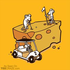 Par Cheesy T-Shirt Designed by DavidSoames. #TeeCraze #Funny #Mouse #Mice #Golf #tshirt