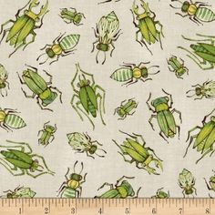 Blend The Adventures Insect Love Ivory from @fabricdotcom  Designed by Cori Dantini by Blend Fabrics, this cotton print fabric is perfect for quilting, apparel and home decor accents. Colors include ivory, brown, shades of green and shades of yellow.