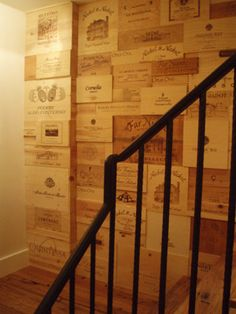 Wine crates! Loving it for the back of the wine bar!