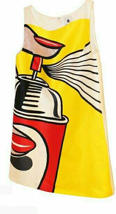 Roy Lichtenstein, obviously, but Pop Art fits here. Roy Lichtenstein Pop Art, Pop Art Fashion, Mod Fashion, Vintage Fashion, Fashion Design, Fashion Details, Sonia Delaunay, Estilo Pin Up, Mode Vintage