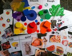 break some of these activities up & make a busy bag (maybe one bag for each sense)