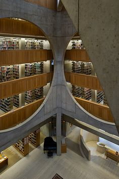 Exeter Library. Atrium. Louis Kahn. Exeter, New Hampshire, 1972