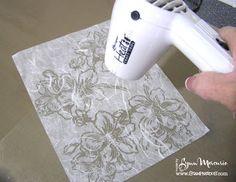embossed mulberry paper tutorial...true batik appearance