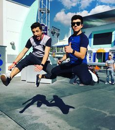 After visiting Epcot and Disney's Hollywood Studios with their Lab Rats: Elite Force castmates (see photos here), Bradley Steven Perry and Jake Short had so