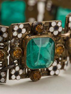 Rewind Vintage Affairs Enamel Embellished Bracelet - Rewind Vintage Affairs - Farfetch