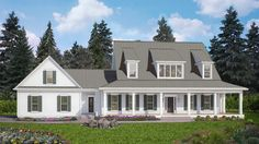 4 Bed Modern Farmhouse with Front and Rear Porches - 25609GE | Architectural Designs - House Plans