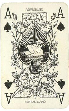 Ace of spades Escalade Neuhausen Switzerland playign cards Playing Cards Art, Vintage Playing Cards, Vintage Cards, Playing Card Design, Ace Card, Design Art, Graphic Design, Design Ideas, Ace Of Spades