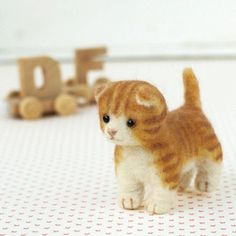 DIY handmade Japanese Felt Wool Cat Kit Packages - 2 cats to choose from. $20.00, via Etsy.