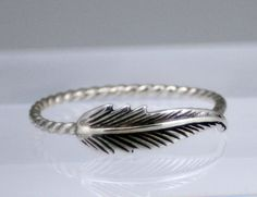 Sterling silver feather ring feather ring by CapturedIllusions, $31.00