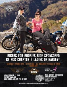 Slidell, LA - Oct. 10, 2015: Bikers for Boobies motorcycle ride. All donations go to the New Orleans Chapter of Susan G Komen Foundation.