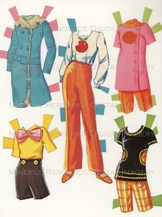 Printable Paperdoll Vintage Fashion Paper Doll Malibu Francie 1973 w/ 25 Dress Ensembles -Digital Download Sheets Scanned from Originals. $5.00, via Etsy.