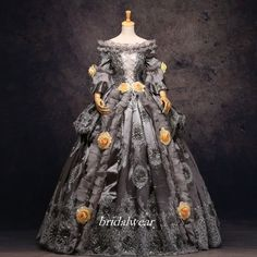 Grey 18th Century Rococo Baroque Cosplay Costume Marie Antoinette Gown Dresses in 18th Century, Colonial | eBay