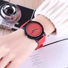 Available on Memplaza Marketplace at only $15.21 or with Membidder starting off at $1.00 during live auctions! Worldwide Shipping. Mens Dress Watches, Teenage Girl Gifts Christmas, Couple, Diy For Girls, Women's Fashion Dresses, Michael Kors Watch, Red Leather, Quartz, Band