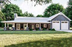 House Plan 963-00386 - Farmhouse Plan: 1,366 Square Feet, 1 Bedroom, 1.5 Bathrooms