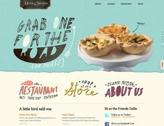 """Great creative ability and power of """"CSS with SVG"""" is manifested in the design of Mariecatrib website. It is a great example of restaurant website created in retro vintage style. With its awesome homepage slider, Design Web, Web Design Trends, Food Design, Graphic Design, Print Design, Slider Web, Slider Design, Restaurant Website Design, Delicious Restaurant"""