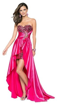 2015 new prom dresses Ladies Beaded Front Short Long Back Prom Evening Gown Party Dresses