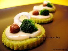 Polenta ai broccoletti con crema di taleggio e uova di quaglia