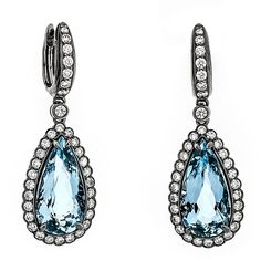 Lux Colored Gems and Diamond Earrings  Erik Runyan Jewelers