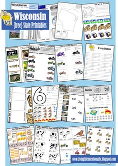 {free} Wisconsin State Learning Pack with a variety of fun way to learn about WI for kids 3-10 years old! This is part of a series including all 50 states from www.livinglifeintentionally.blogspot.com