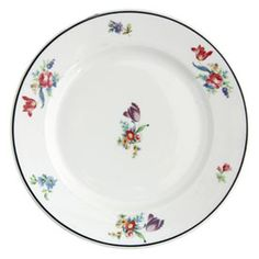 This vintage Syracuse China Floral Sample Plate reminds me of a backyard garden, adorable!