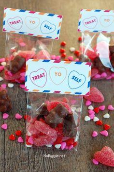 Treat Yo Self treat bag toppers - free printable via NoBiggie.net