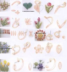 Wonderful Ribbon Embroidery Flowers by Hand Ideas. Enchanting Ribbon Embroidery Flowers by Hand Ideas. Ribbon Embroidery Tutorial, Silk Ribbon Embroidery, Embroidery Applique, Embroidery Stitches, Embroidery Patterns, Embroidered Silk, Machine Embroidery, Embroidery Books, Embroidery Tattoo
