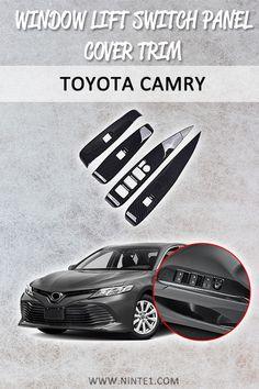 Red Carbon fiber Center Console Stripe Decorative Trim For Toyota Camry 2018-19