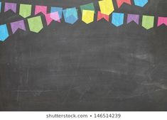 Imágenes similares, fotos y vectores de stock sobre Colorful chalk drawing in hanging party flag shape on blackboard background; 763230619   Shutterstock Classroom Background, Kids Background, Free Christmas Backgrounds, Chalk Drawings, Teacher Organization, Binder Covers, Border Design, Cross Stitch Designs, Ink Art