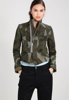 "G-Star. Care instructions:do not tumble dry,machine wash at Sleeve "" (Size S). Back "" (Size S). Summer Jacket, Women's Blazers, Fabric Material, Camouflage, Spandex, Slim, Fitness, Pattern, Sleeves"