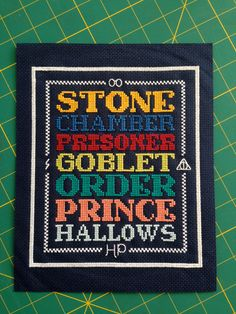 Harry Potter Cross Stitch Pattern by BettyRoseDesigns on Etsy, $7.50