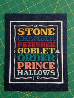 Harry Potter Cross Stitch Pattern by BettyRoseDesigns on Etsy, $7.50