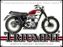 CLASSIC MOTORCYCLE METAL WALL SIGNS