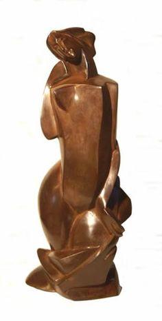 Margriet Barends, 'Baadster',                                                                              brons,                                                     hoogte: 35 cm
