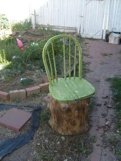 These Superb DIY Tree Stump Transformations Add The Good Rustic Aptitude To Any House This may be superior for that stump in my yard! Dishfunctional Designs: The Upcycled Backyard – April 2014 Extra
