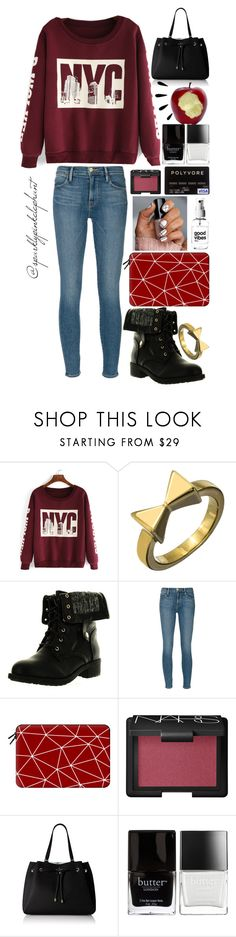 """""""Go Check Out Gsheffy!!"""" by sparklypinkelephant ❤ liked on Polyvore featuring Roman Luxe, Refresh, Frame, Casetify, Alicia Hannah Naomi, NARS Cosmetics, Kate Spade, Old Navy and Butter London"""
