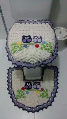 This is so tacky. Crochet Kitchen, Crochet Home, Crochet Crafts, Crochet Projects, Crochet Owls, Crochet Doilies, Crochet Yarn, Owl Patterns, Crochet Patterns