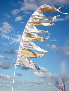 diy bunting flags | Bunting Flag White 2 metre - DIY Hire: Beautiful Beach Weddings
