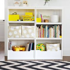 "Flat Top Bookcase, 48"" (White)  